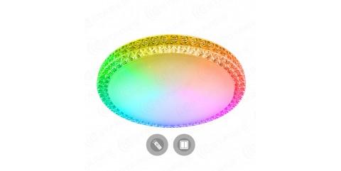 Потолочный светодиодный светильник Maysun PLUTON RGB 60W R-520-CLEAR/SHINY-220-IP40/2019